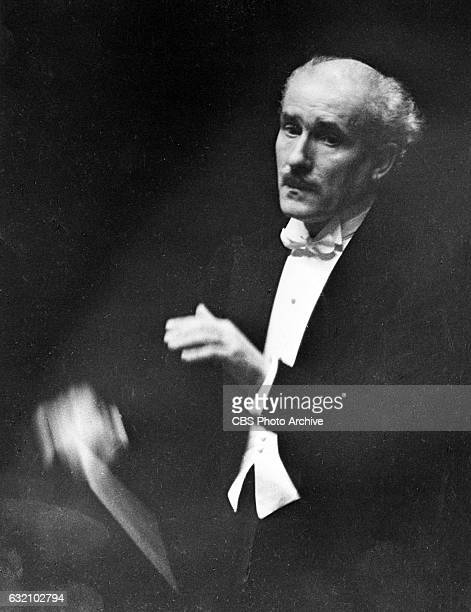 Conductor Arturo Toscanini He conducts The New York Philharmonic Orchestra for CBS Radio broadcasts Image dated January 1 1935