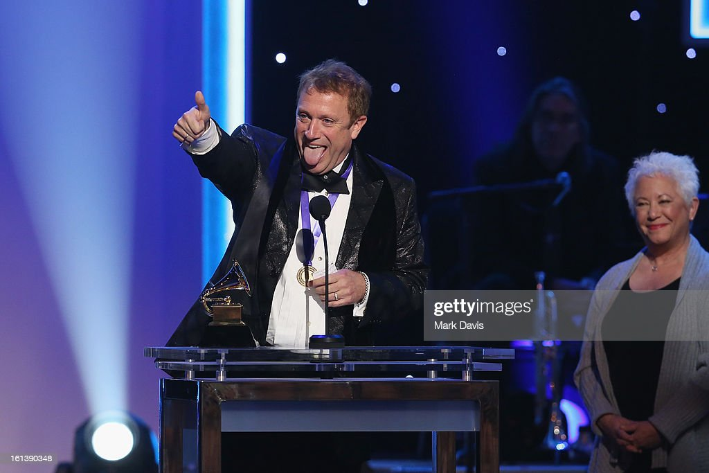 Conductor Charles Bruffy and Janis Ian onstage during the 55th Annual GRAMMY Awards Pre-Telecast at Nokia Theatre L.A. Live on February 10, 2013 in Los Angeles, California.