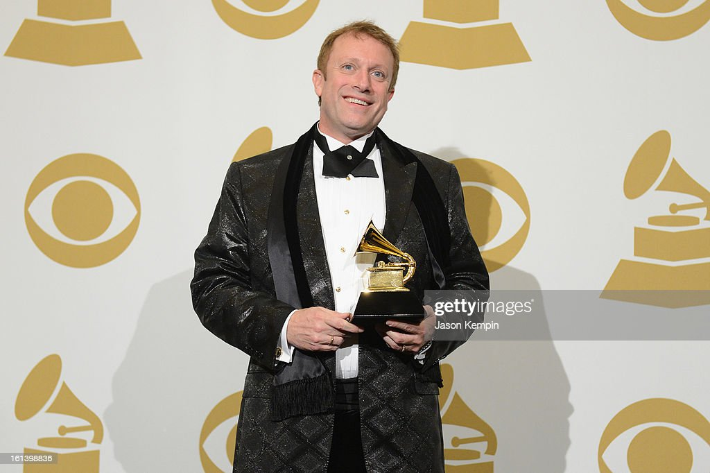 Conductor Charles Bruffy, winner of Best Choral Performance, poses in the press room during the 55th Annual GRAMMY Awards at STAPLES Center on February 10, 2013 in Los Angeles, California.