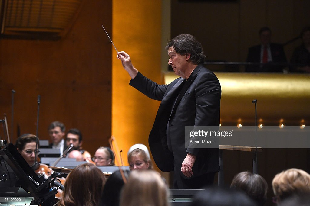 Conductor David Newman performs during New York Philharmonic's Spring Gala, A John Williams Celebration at David Geffen Hall on May 24, 2016 in New York City.