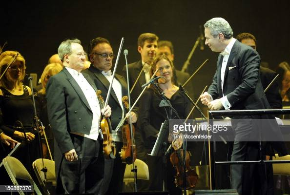Conductor Eugene Kohn performs in support of Andrea Bocelli's Opera release at HP Pavilion on November 23 2012 in San Jose California
