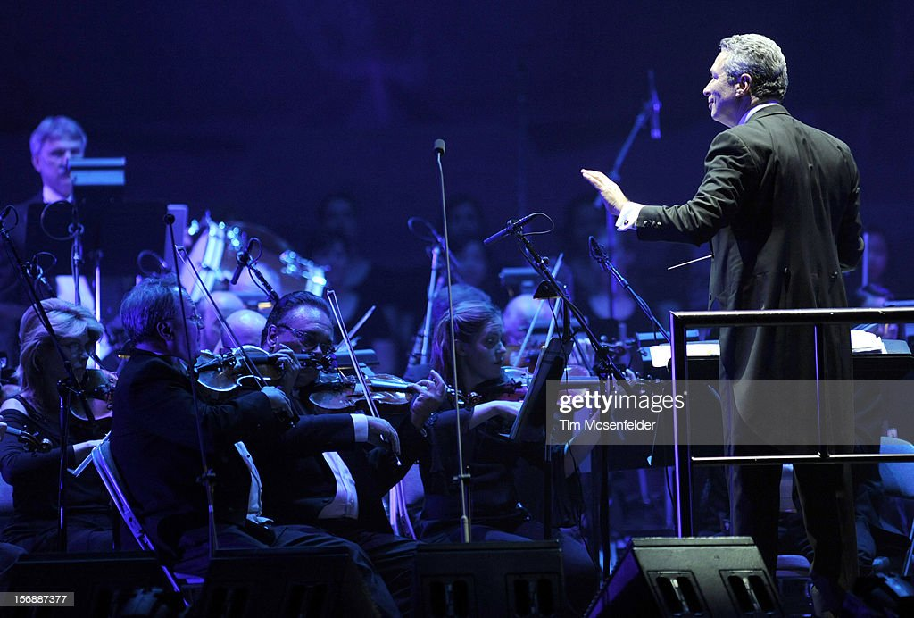Conductor Eugene Kohn performs in support of Andrea Bocelli's Opera release at HP Pavilion on November 23, 2012 in San Jose, California.
