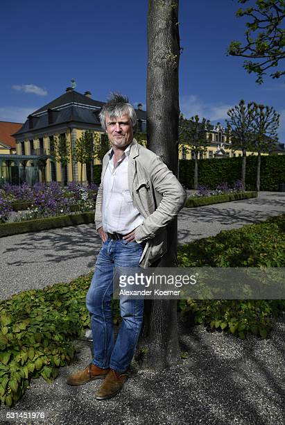 Conductor Ingo Metzmacher poses inside 'Herrenhaeuser Gaerten' during a portrait session on May 10 in Hanover Germany