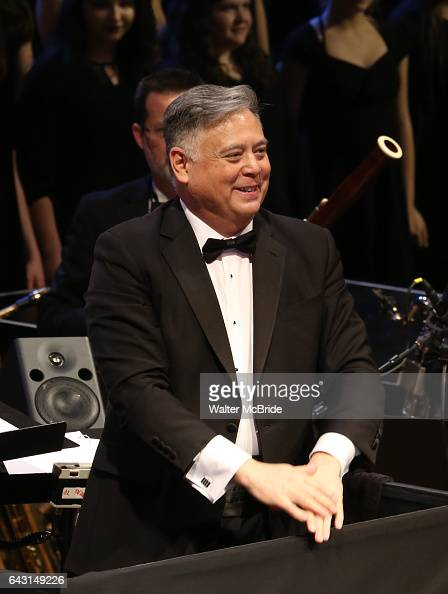 Conductor Kevin Stites during the Manhattan Concert Productions 25th Anniversary concert performance of 'Crazy for You' at David Geffen Hall Lincoln...