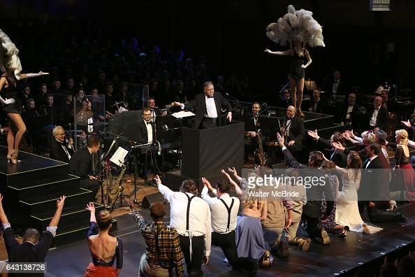 Conductor Kevin Stites Jack McBrayer Rachel Dratch Jerry O'Connell Laura Osnes Tony Yazbeck Rachel Bloom Harry Groener Nancy Opel Mark LinnBaker with...