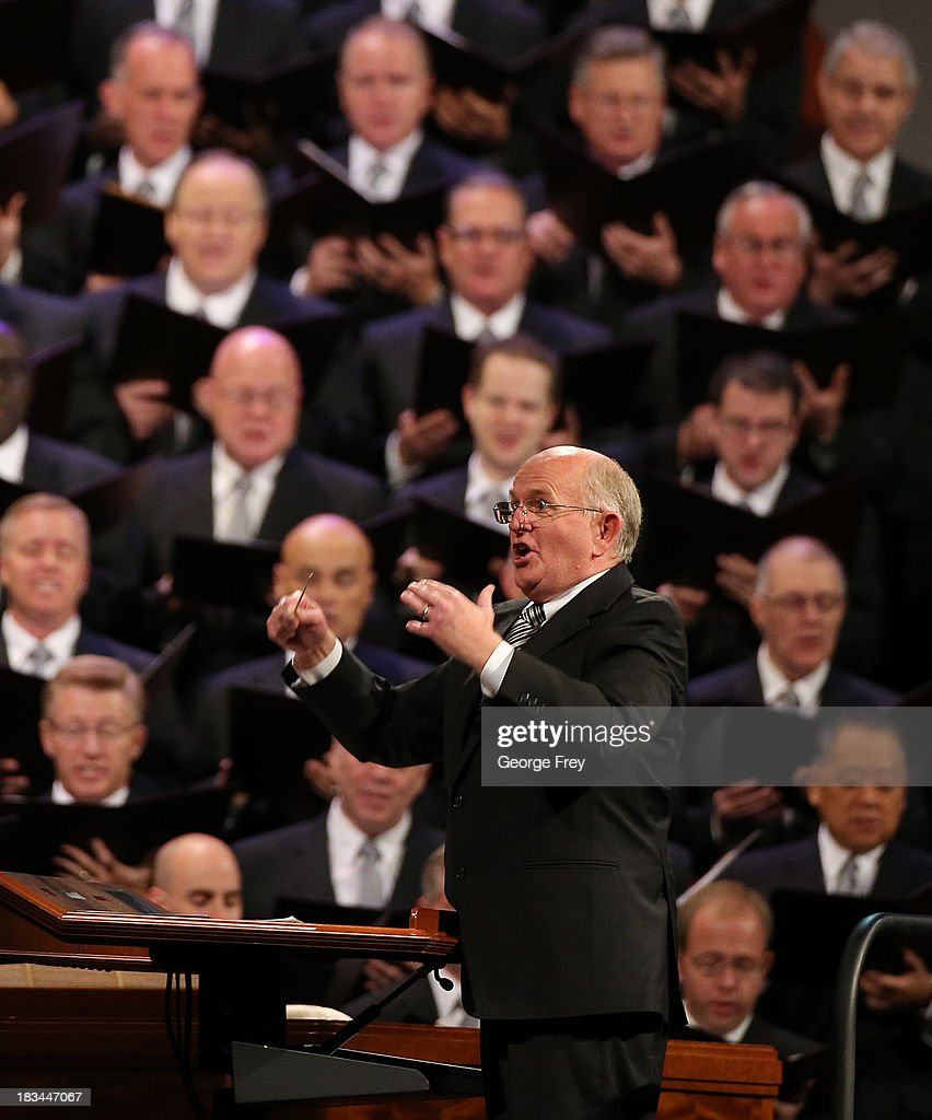 Conductor Mack Wilberg leads the Mormon Tabernacle Choir during the fourth session of the 183rd Semi-Annual General Conference of the Church of Jesus Christ of Latter-Day Saints in on October 6, 2013 in Salt Lake City, Utah. According to reports the Mormon Church announced its membership is at 15 million.