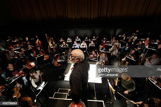 Conductor Pavel Bubelnikov conducts orchestra rehersal during The Mikhailovsky Ballet of St Petersburg's 'Class Concert' Dress Rehearsal at David H...