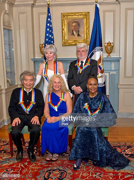 Conductor Seiji Ozawa actress and singer Rita Moreno singersongwriter Carole King filmmaker George Lucas and actress and Broadway star Cicely Tyson...