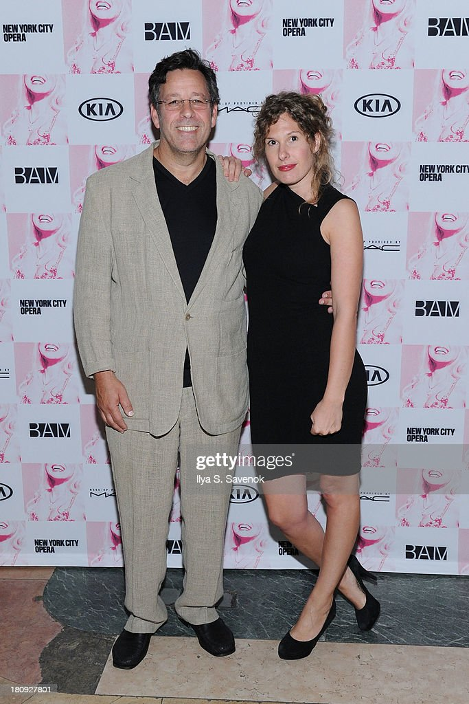 Conductor Steven Sloane (L) attends 'Anna Nicole The Opera' Opening Night at Skylight One Hanson on September 17, 2013 in New York City.