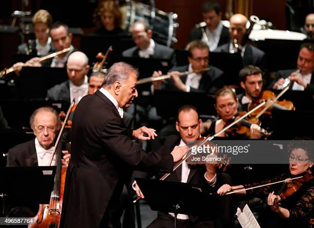 Conductor Zubin Mehta attends the American Friends of the Israel Philharmonic Orchestra Duet Gala at the Wallis Annenberg Center for the Performing...