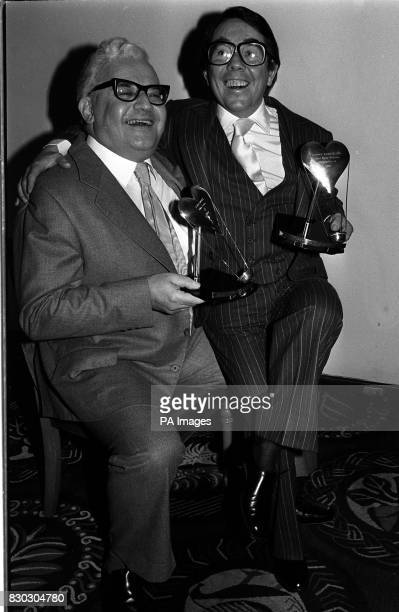 Conedians Ronnie Barker and Ronnie Corbett with their awards at the Savoy Hotel in London where they were named 1980 Show Business Personalities of...