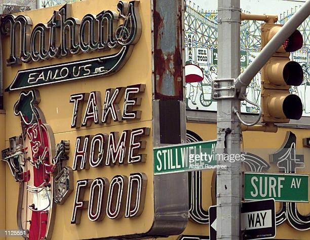 Coney Island own Nathans restaurant located on the corner of Stillwell Ave and Surf Ave is world famous for its Hot Dogs pictured on July 14 2002...