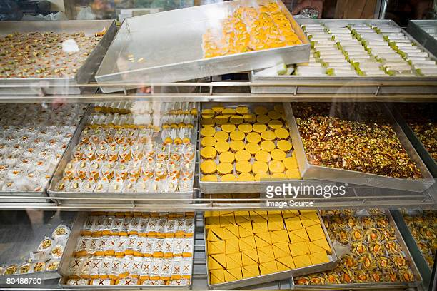 Confectionery on a market stall
