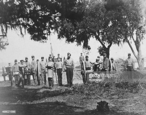 Confederate Artillery Charleston South Carolina 1863