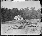 Confederate dead lie in front of the Dunker church on the Antietam battlefield in Antietam Maryland September 1862 Photo taken by Alexander Gardner