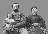 Confederate Family wife child 1863