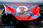 Confederate flag is seen prior to practice for the NASCAR XFINITY Series Subway Firecracker 250 at Daytona International Speedway on July 3 2015 in...