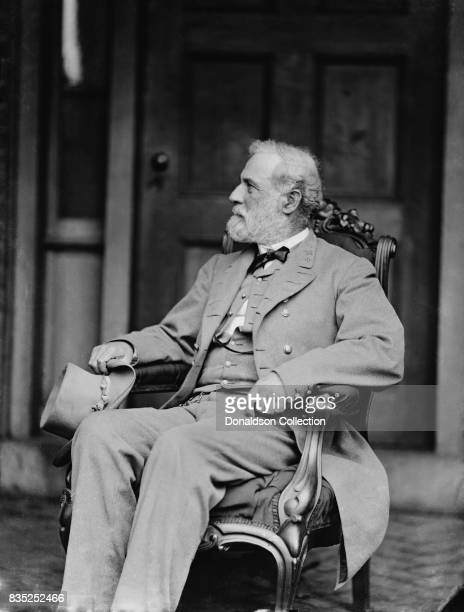 Confederate general Robert E Lee poses for a portrait in circa 1863