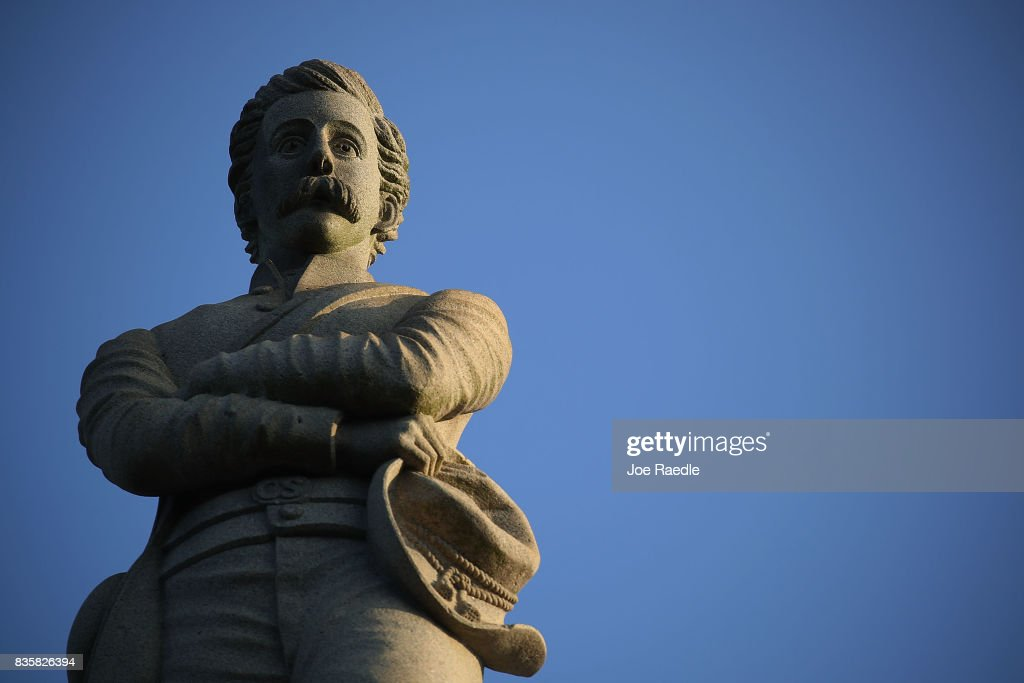 A Confederate monument featuring an 8-foot statue of a Confederate soldier is seen in Lee Park in the midst of a national controversy over whether Confederate symbols should be removed from public display on August 20, 2017 in Pensacola, Florida. The issue is at the heart of a debate about race in America and a recent protest in Charlottesville, VA turned deadly as white-supremacists clashed with counter-demonstrators over a confederate statue.