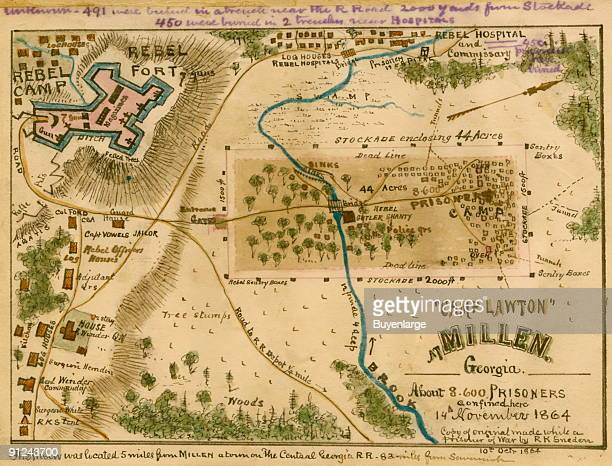 Confederate prison camp for Northern soldiers that was brand new in October 1864 when Sneden was transferred from Savannah Ga back inland to Camp...
