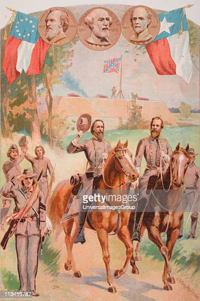 Confederate uniforms during the American Civil War 1861 to 1865 Artist Davis