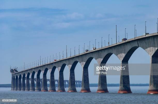 Confederation Bridge connecting Prince Edward Island with New Brunswick Maritime Provinces Canada