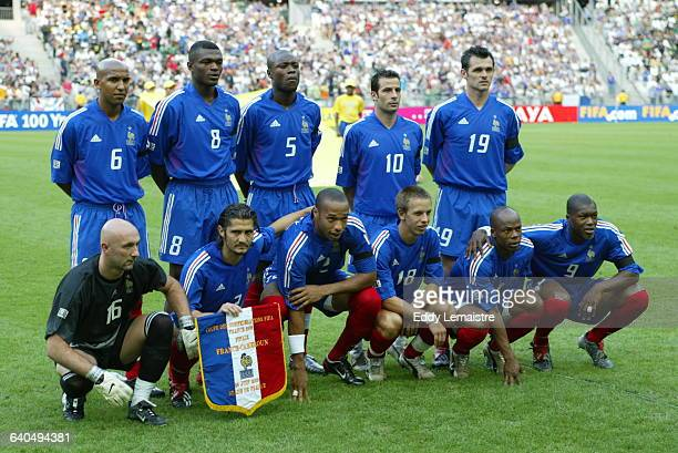 Confederations Cup France 2003 Final match Cameroon vs France French team