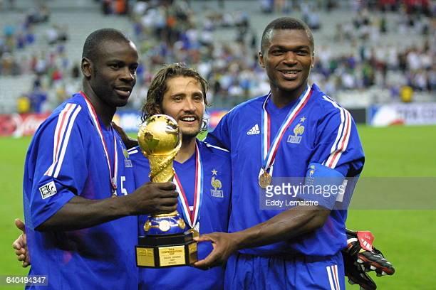 Confederations Cup France 2003 Final match Cameroon vs France Lilian Thuram Bixente Lizarazu and Marcel Desailly