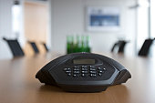 Conference phone in meeting room.