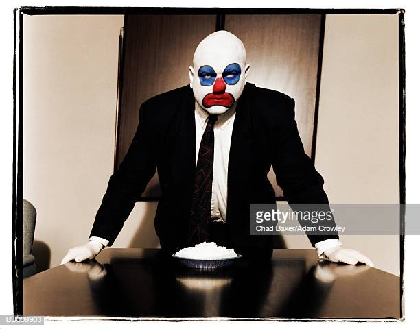 Conference Room Business Clown with Cream Pie