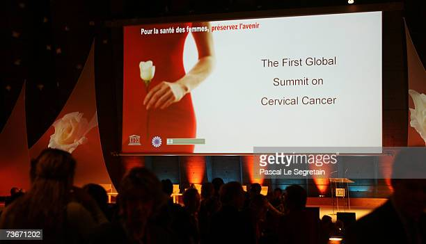 Conference room of The First Global Summit On Cervical Cancer on March 22 2007 at the UNESCO House in Paris France
