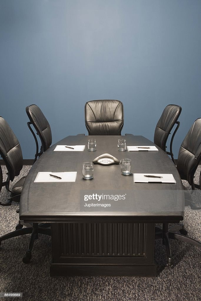 Conference room table : Stock Photo