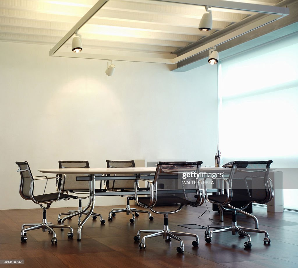 Conference table and chairs : Stock Photo