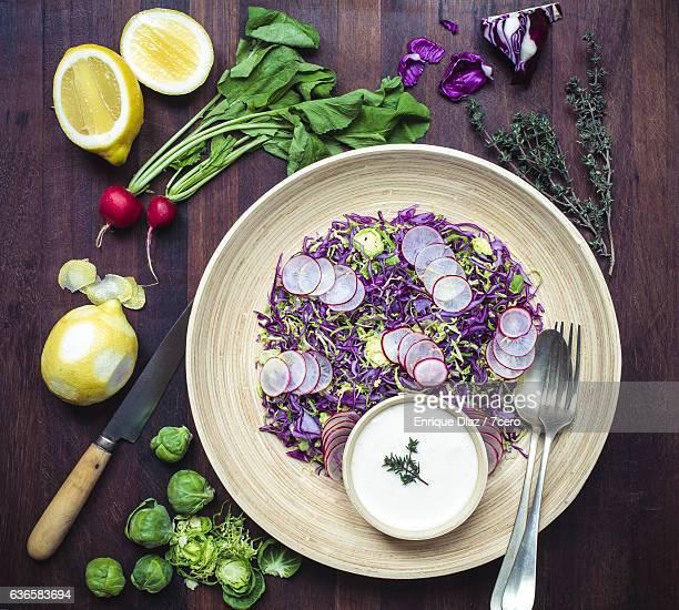 Confetti Coleslaw and Lemon Mayonnaise