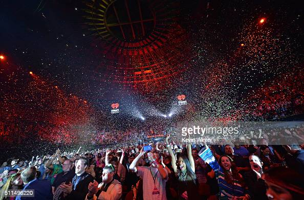 Confetti drops during the first ever iHeart80s Party at The Forum on February 20 2016 in Inglewood California