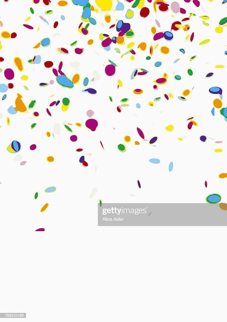 Confetti on a white background