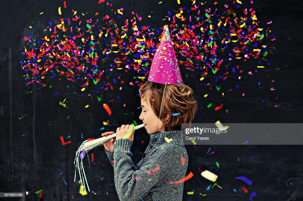 confetti party boy.Birthday