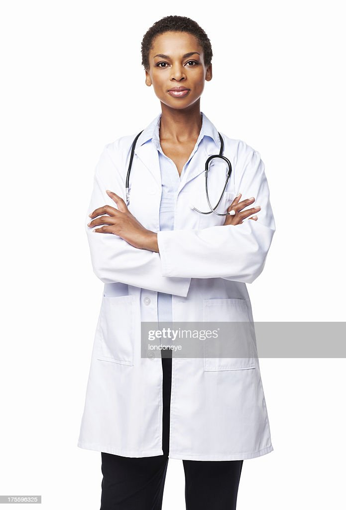 Confident African American Female Doctor - Isolated