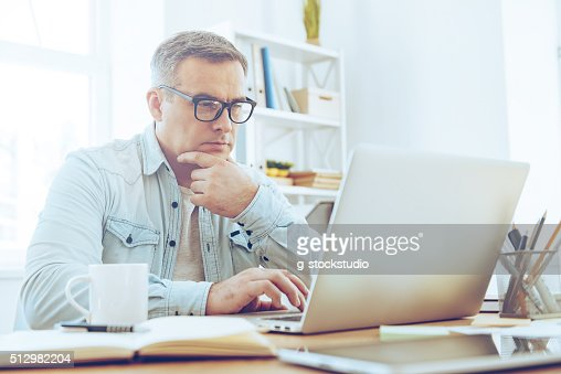 Confident and concentrated. : Stock Photo