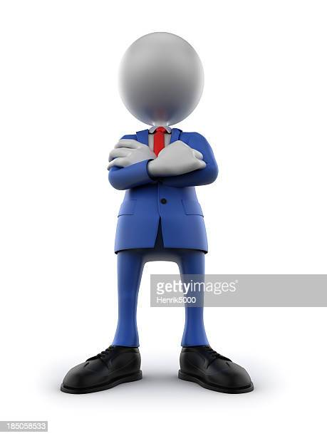Confident and imposing business man, isolated on white/clipping path
