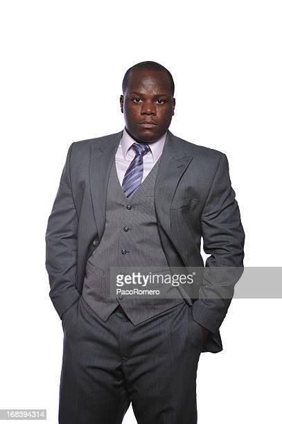 Confident black businessman