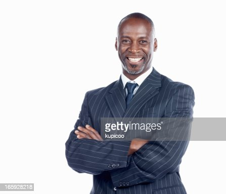 Confident business man smiling