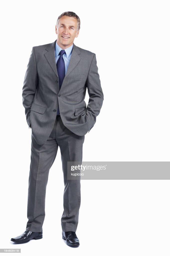 Confident business man smiling