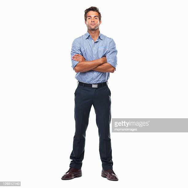 Confident business man standing with arms crossed