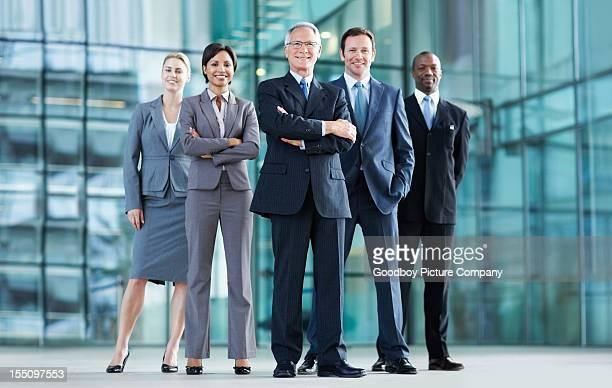 Zuversichtlich business Personen