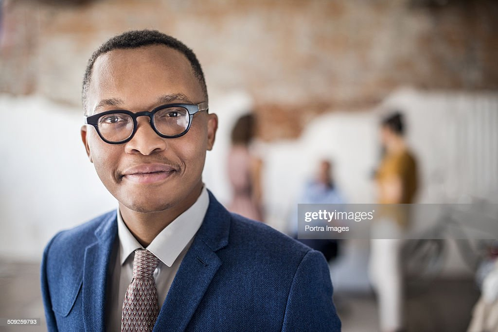 Confident businessman at creative office : Stock-Foto