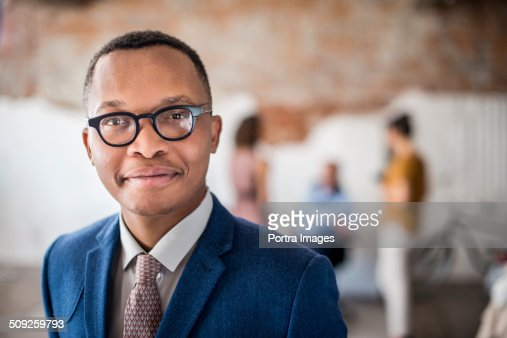 Confident businessman at creative office