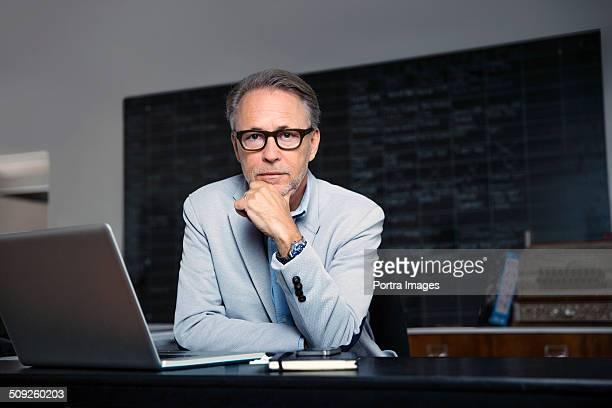 Confident businessman in creative office