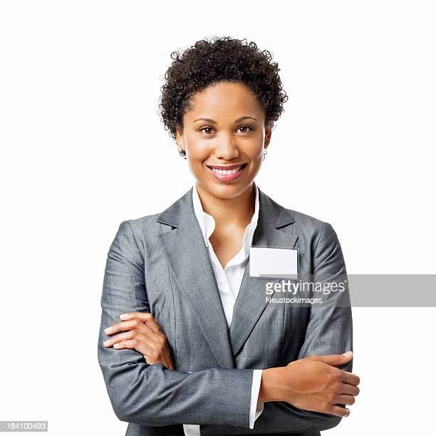 Zuversichtlich Geschäftsfrau Porträt-isoliert