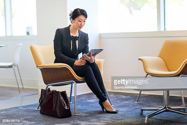 Confident Businesswoman Sitting on the chair